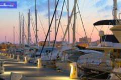 Barcos de recreo en La Marina de Dénia