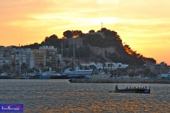 Vista del Castillo desde la Marina de Denia