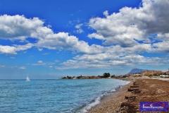 Tarde con nubes en la playa de la Almadrava de Els Poblets