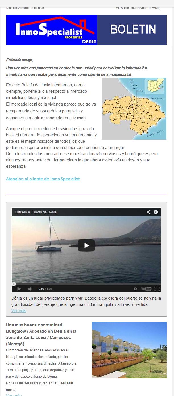 NOTICIAS y OFERTAS de JUNIO 2014 Inmospecialist