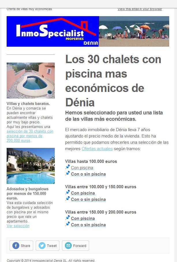 Los 30 chalets con piscina más económicos de Denia